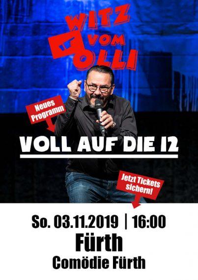 Plakat Witz vom Olli Comödie Fürth