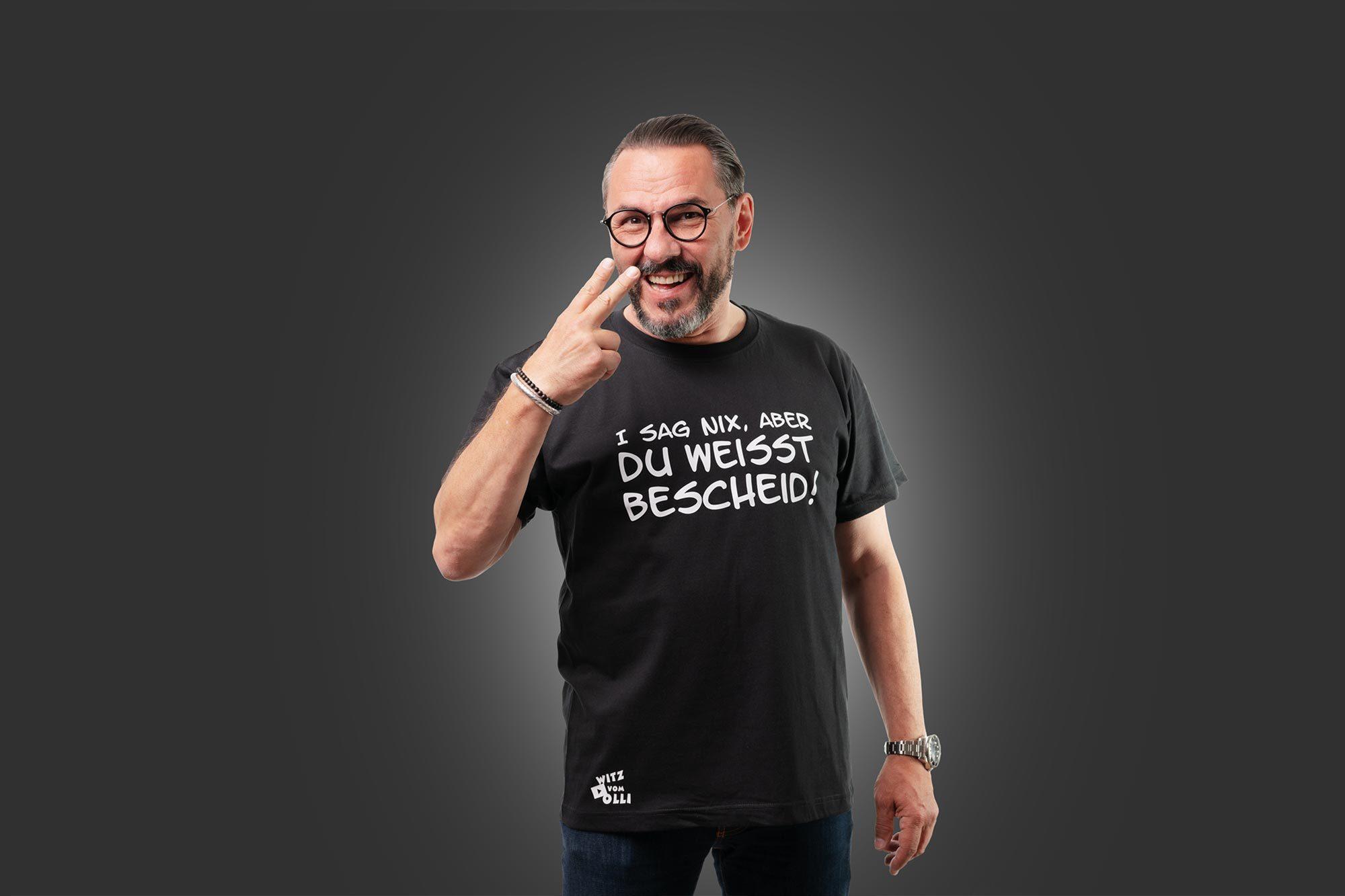 """T-shirt mit dem Aufdruck """"Ich sag nix, aber du weißt bescheid"""""""