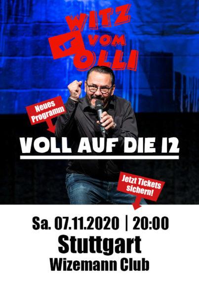 Plakat Witz vom Olli Wizemann Club Stuttgart