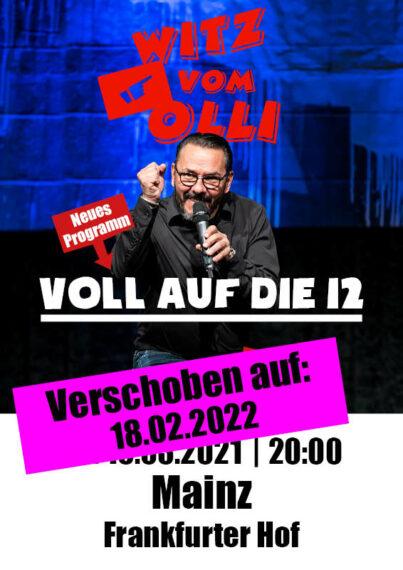 Plakat Witz vom Olli Mainz 2022